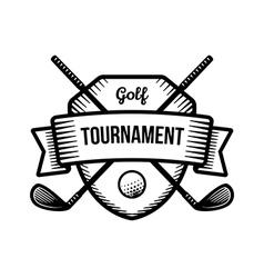 Golf sport tournament logo vector image vector image