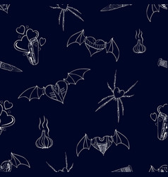 seamless contour pattern with a theme of vampires vector image vector image