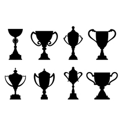 Sport trophies and awards vector image