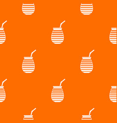 tea cup used mate or terere in argentina pattern vector image vector image