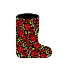 Valenki - Russian traditional winter boots vector image