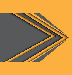 abstract gray yellow arrow speed modern vector image