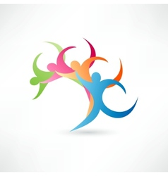 Abstract wave people vector image