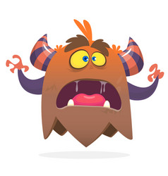 angry cartoon monster screanimg vector image
