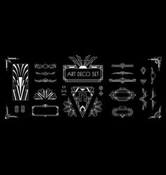 Art deco set vector