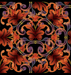 Baroque tapestry seamless pattern vintage vector