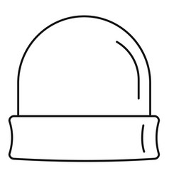 Beanie icon outline style vector