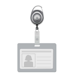 blank id with silhouette of woman mockup vector image