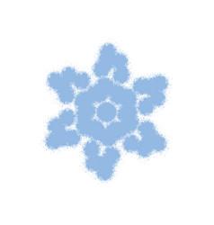 blue grainy snowflake vector image