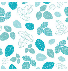 blue leaves seamless pattern vector image