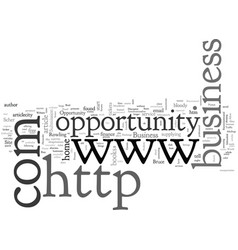 Business opportunity seeker excommutercated vector