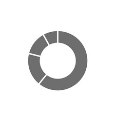 circle graph grey icon isolated on white vector image