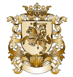 Coat of arms drawn by hand vector