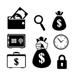 collection save the money icon vector image