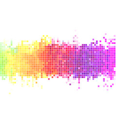 colorful pixels background vector image