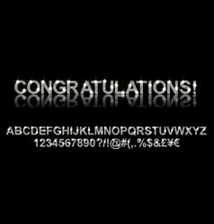 congratulations silver alphabet vector image