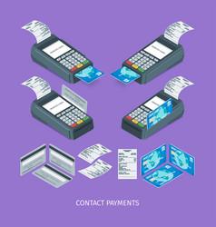 contact payment terminal vector image