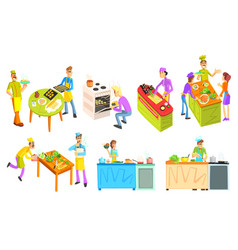 cooking collection vector image