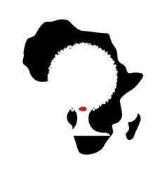 Curly afro hair concept portrait african women vector