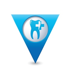 dental clinic icon pointer blue vector image