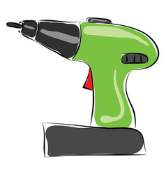 drill hand drawn design on white background vector image