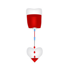 dropper fills heart blood world blood donor day vector image
