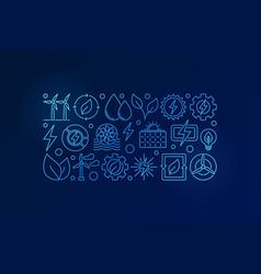 Eco energy blue vector