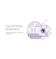 Educational research business concept template web vector