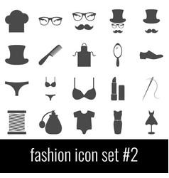 fashion icon set 2 gray icons on white vector image