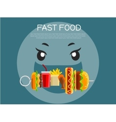 Fast food concept banner vector image