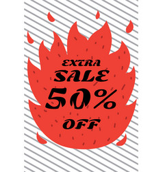 fiery sales in the store vector image