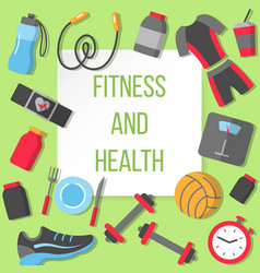 fitness and health poster vector image