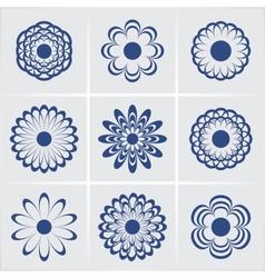 flowers set eps8 vector image