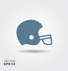 football helmet sport icon symbol vector image