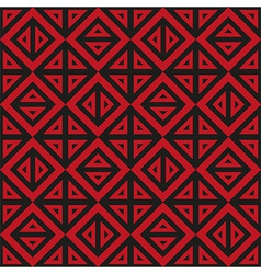Geometric abstract black and red pattern seamless vector image