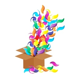 Gift Box Background Isolated vector image
