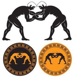 Greco roman wrestling vector