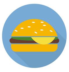 hamburger icon in flat style long shadow vector image