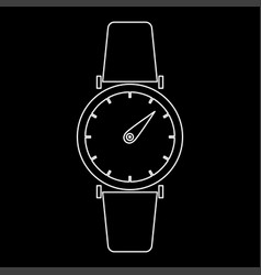 hand watch the white path icon vector image