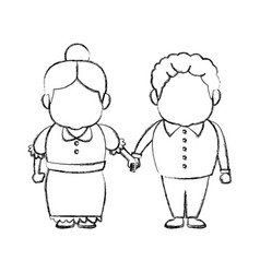 happy grandpa and grandma parents standing vector image
