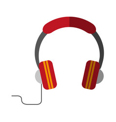 Headphones with cord icon image vector