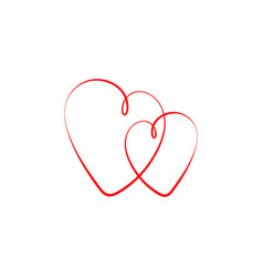 hearts icons red heart isolated on white vector image