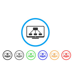 hierarchy monitoring rounded icon vector image