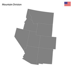 high quality map mountain division united vector image