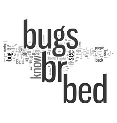 How to know if you have bed bugs vector