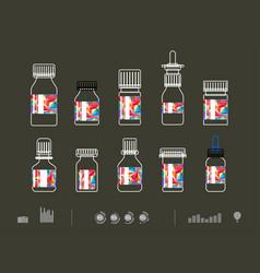 icon drug vector image