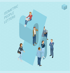 Isometric numbers with people vector