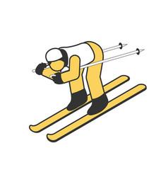 Isometric winter sport icon vector