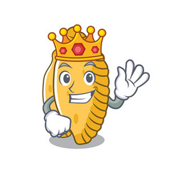 King pastel mascot cartoon style vector