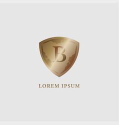 Letter b alphabet logo design template luxury vector